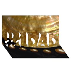 Golden Pearls #1 Dad 3d Greeting Card (8x4)