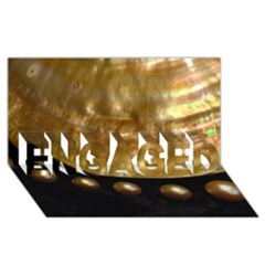 Golden Pearls Engaged 3d Greeting Card (8x4)