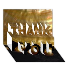Golden Pearls Thank You 3d Greeting Card (7x5)