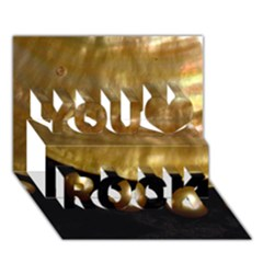 Golden Pearls You Rock 3d Greeting Card (7x5)