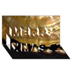 GOLDEN PEARLS Merry Xmas 3D Greeting Card (8x4)