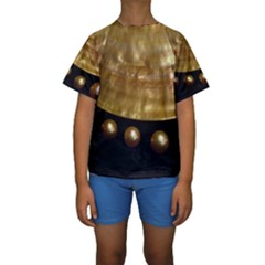 GOLDEN PEARLS Kid s Short Sleeve Swimwear