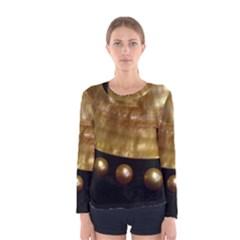 GOLDEN PEARLS Women s Long Sleeve T-shirts
