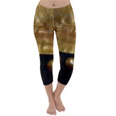 GOLDEN PEARLS Capri Winter Leggings