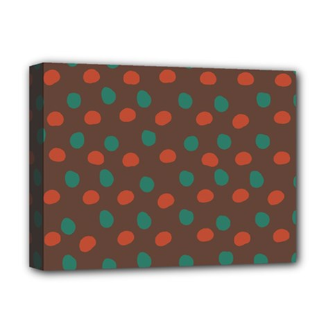 Distorted polka dots pattern Deluxe Canvas 16  x 12  (Stretched)