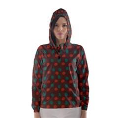 Distorted polka dots pattern Hooded Wind Breaker (Women)
