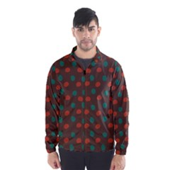 Distorted Polka Dots Pattern Wind Breaker (men)