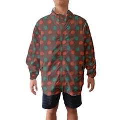 Distorted polka dots pattern Wind Breaker (Kids)
