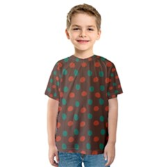 Distorted polka dots pattern Kid s Sport Mesh Tee