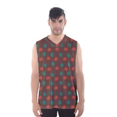Distorted Polka Dots Pattern Men s Basketball Tank Top
