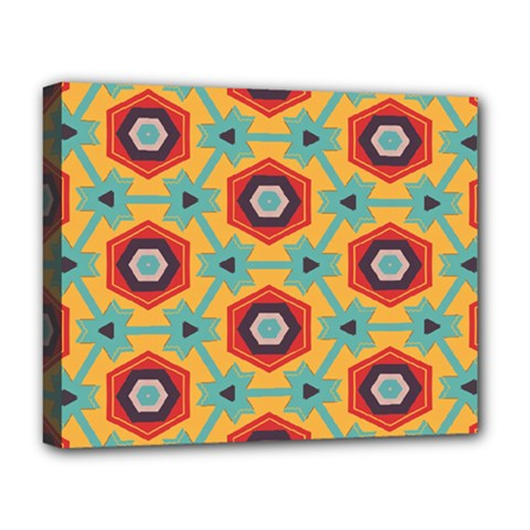 Stars and honeycomb pattern Deluxe Canvas 20  x 16  (Stretched)