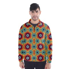 Stars And Honeycomb Pattern Wind Breaker (men)