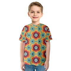 Stars And Honeycomb Pattern Kid s Sport Mesh Tee