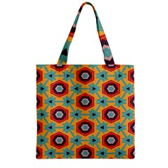 Stars and honeycomb pattern Grocery Tote Bag