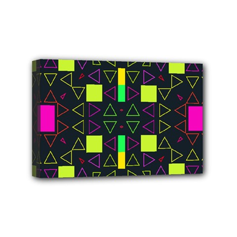 Triangles and squares Mini Canvas 6  x 4  (Stretched)