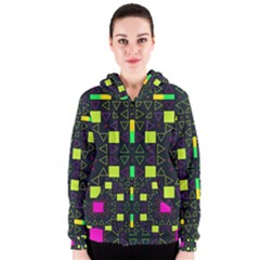 Triangles and squares Women s Zipper Hoodie