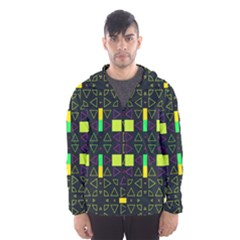Triangles and squares Mesh Lined Wind Breaker (Men)