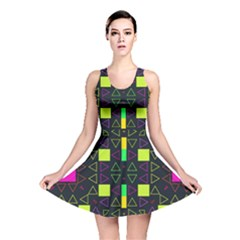 Triangles and squares Reversible Skater Dress