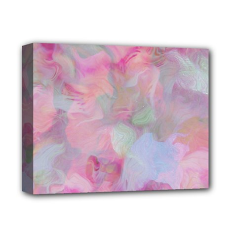 Soft Floral Pink Deluxe Canvas 14  x 11