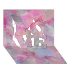 Soft Floral Pink LOVE 3D Greeting Card (7x5)