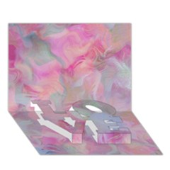 Soft Floral Pink Love Bottom 3d Greeting Card (7x5)