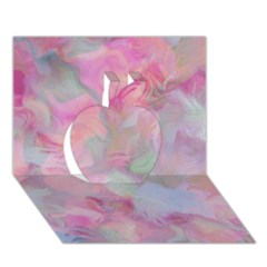 Soft Floral Pink Apple 3d Greeting Card (7x5)