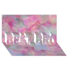 Soft Floral Pink Best Bro 3d Greeting Card (8x4)