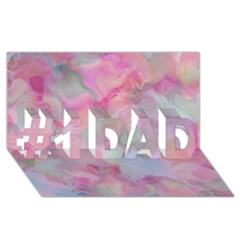 Soft Floral Pink #1 Dad 3d Greeting Card (8x4)