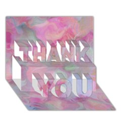 Soft Floral Pink Thank You 3d Greeting Card (7x5)