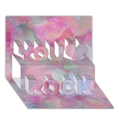 Soft Floral Pink You Rock 3d Greeting Card (7x5)