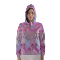 Soft Floral Pink Hooded Wind Breaker (women)
