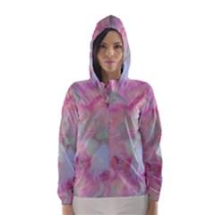 Soft Floral Pink Hooded Wind Breaker (Women)