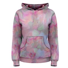 Soft Floral Pink Women s Pullover Hoodies