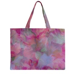 Soft Floral Pink Zipper Tiny Tote Bags