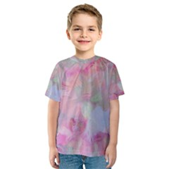 Soft Floral Pink Kid s Sport Mesh Tees