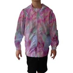 Soft Floral Pink Hooded Wind Breaker (Kids)