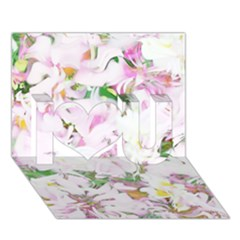 Soft Floral, Spring I Love You 3D Greeting Card (7x5)