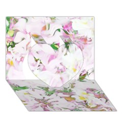 Soft Floral, Spring Heart 3D Greeting Card (7x5)
