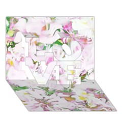 Soft Floral, Spring LOVE 3D Greeting Card (7x5)