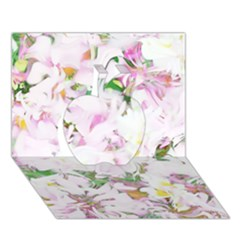 Soft Floral, Spring Apple 3D Greeting Card (7x5)