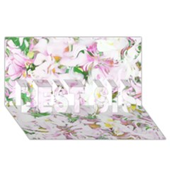 Soft Floral, Spring Best Sis 3d Greeting Card (8x4)