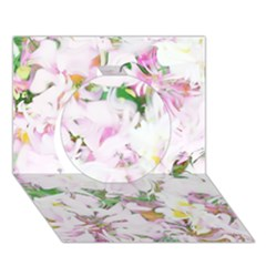 Soft Floral, Spring Circle 3d Greeting Card (7x5)