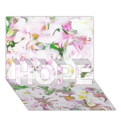 Soft Floral, Spring Hope 3d Greeting Card (7x5)