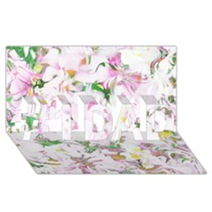 Soft Floral, Spring #1 Dad 3d Greeting Card (8x4)