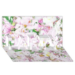 Soft Floral, Spring Party 3d Greeting Card (8x4)