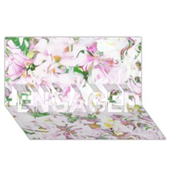 Soft Floral, Spring ENGAGED 3D Greeting Card (8x4)
