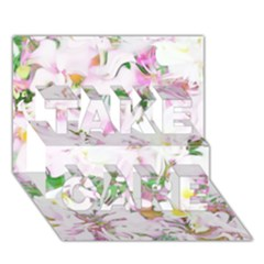 Soft Floral, Spring Take Care 3d Greeting Card (7x5)