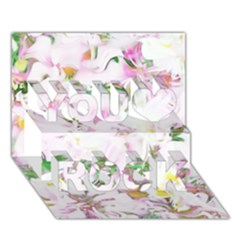 Soft Floral, Spring You Rock 3d Greeting Card (7x5)