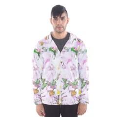 Soft Floral, Spring Hooded Wind Breaker (Men)
