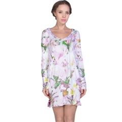 Soft Floral, Spring Long Sleeve Nightdresses